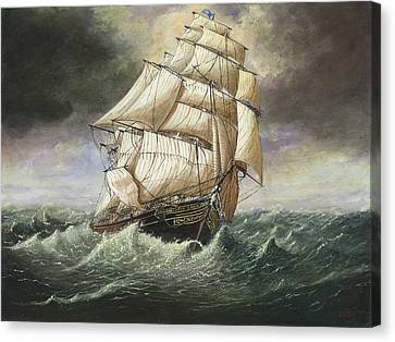 Cutty Sark Caught In A Squall Canvas Print