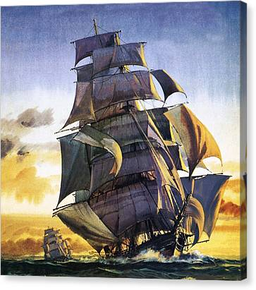 Cutty Sark Canvas Print by English School
