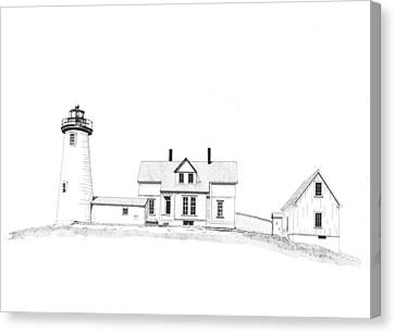 Cuttyhunk Island Lighthouse Canvas Print by Marci Mongelli