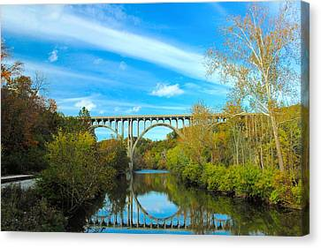 Cuyahoga Valley Scenic Railroad - Brecksville Station Canvas Print by Dennis Lundell