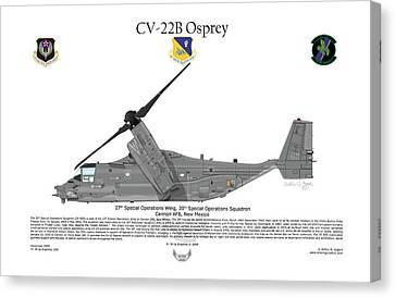 Cv-22b Osprey 20th Sos Canvas Print