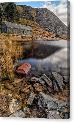 Cwmorthin Slate Quarry Canvas Print by Adrian Evans