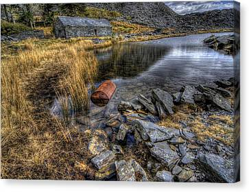 Cwmorthin Slate Quarry Canvas Print by Ian Mitchell
