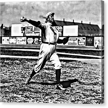 Cy Young Pitching Canvas Print