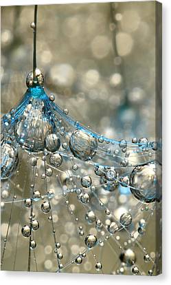 Cyan And Gold Canvas Print