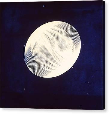 Singular Cyanotype Canvas Print by Jeremy Johnson