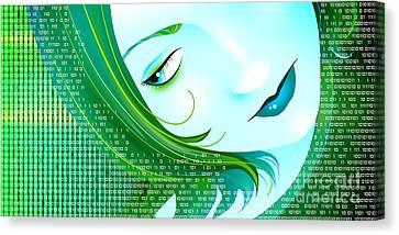 Cyberpunk Canvas Print by Sandra Hoefer