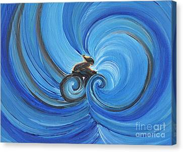 Cycle By Jrr Canvas Print by First Star Art