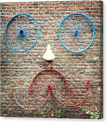 Cycle Face Canvas Print by Jane Rix