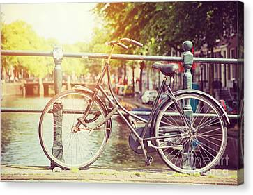 Cycle In Sun Canvas Print