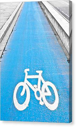 Cycle Path Canvas Print by Tom Gowanlock