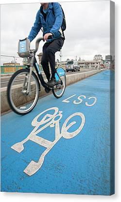 Cycle Superhighways Canvas Print by Ashley Cooper