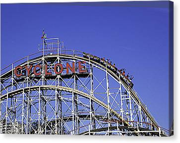 Cyclone 2013 - Coney Island - Bklyn - Ny Canvas Print