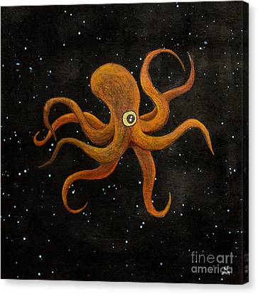 Cycloptopus Black Canvas Print