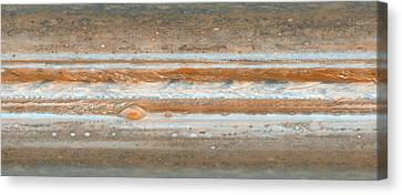 Cylindrical Projection Of Jupiter S Surface  Canvas Print by Anonymous
