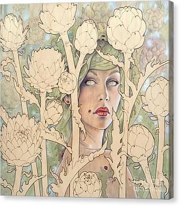 Cynara Canvas Print by Fay Helfer