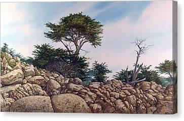Cypress Garden Canvas Print by Tom Wooldridge