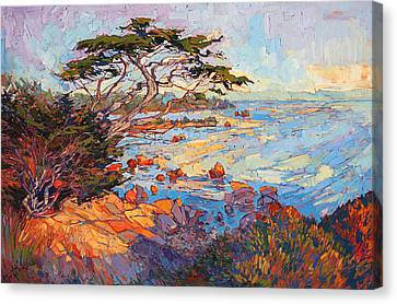 Cypress Mosaic Canvas Print by Erin Hanson