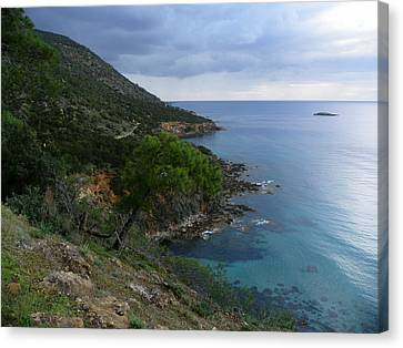 Cyprus Coastline Canvas Print by Noreen HaCohen
