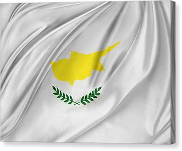 Cyprus Flag Canvas Print by Les Cunliffe