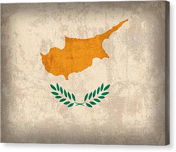 Cyprus Flag Vintage Distressed Finish Canvas Print by Design Turnpike