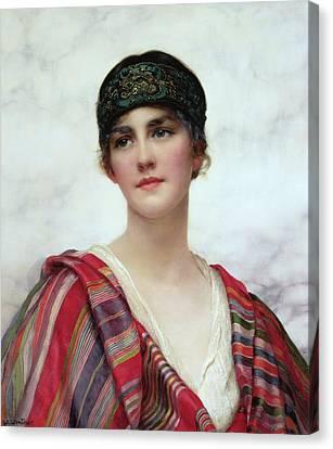 Headband Canvas Print - Cyrene by William Clark Wontner