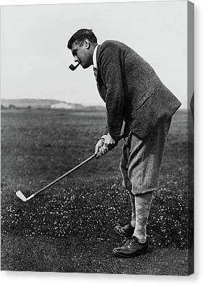 Cyril Tolley Playing Golf Canvas Print