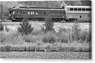Cyrus K  Holliday Private Rail Car Bw Canvas Print by James BO  Insogna