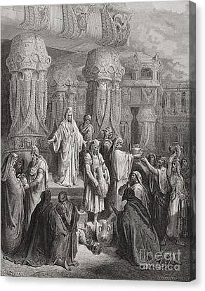 Religious Canvas Print - Cyrus Restoring The Vessels Of The Temple by Gustave Dore