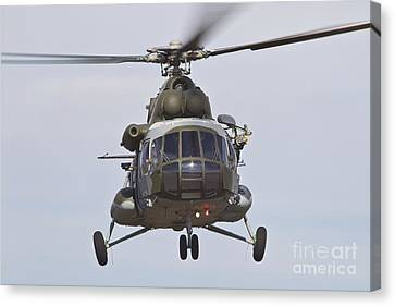 Czech Air Force Mi-171 Hip Helicopter Canvas Print