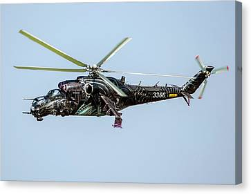 Czech Air Force Mi-24 Helicopter Canvas Print