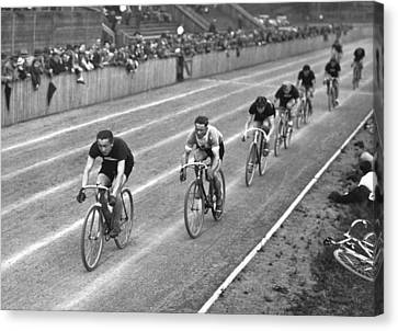 Bicycle Race Canvas Print - Czech Bicycle Race by Underwood Archives