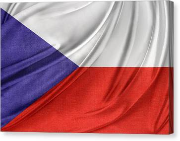 Czech Republic Flag Canvas Print by Les Cunliffe