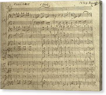 Czech Republic Prague Symphony No. 38 In D Major Called Prague Symphony Canvas Print by Wolfgang Amadeus Mozart