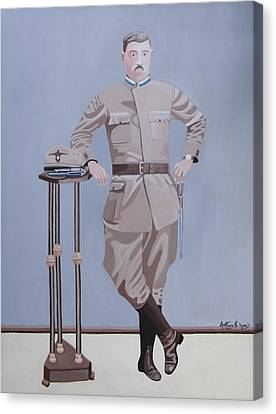 Czech Soldier Canvas Print by Anthony Morris