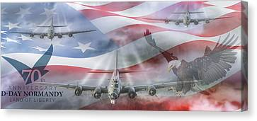 Memorial Canvas Print - D-day 70th Anniversary by Peter Chilelli