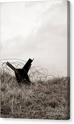 Historic Battle Site Canvas Print - D Day Beach by Olivier Le Queinec