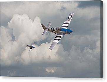 D-day Mustangs Canvas Print by Pat Speirs