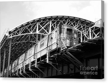 D-train Canvas Print by John Rizzuto