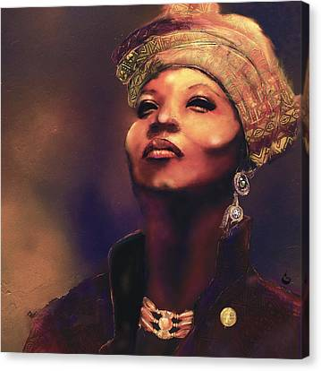 Da Queen Canvas Print by Howard Barry