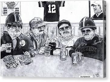 Steelers Canvas Print - Da Steelers by Jonathan Tooley