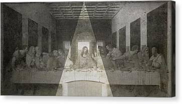Da Vinci Last Supper Revisited Canvas Print by Filippo B