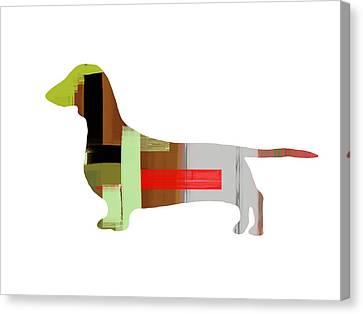 Dachshund Canvas Print by Naxart Studio