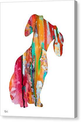 Dachshund Art Canvas Print - Dachshund  by Watercolor Girl