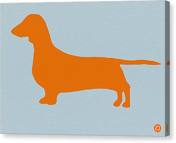 Dachshund Orange Canvas Print by Naxart Studio
