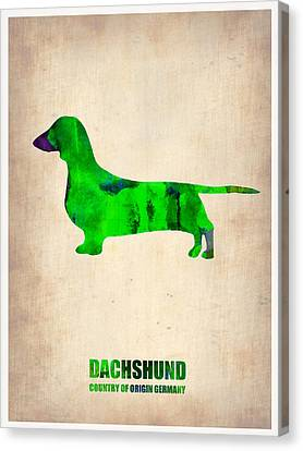 Dachshund Poster 1 Canvas Print by Naxart Studio