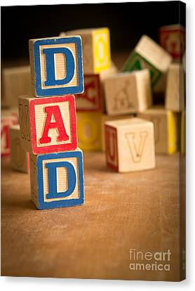 Dad - Alphabet Blocks Fathers Day Canvas Print by Edward Fielding
