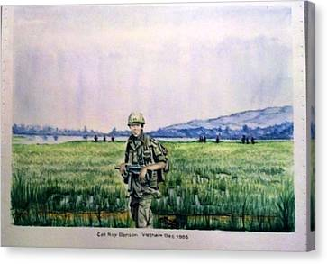 Canvas Print featuring the painting Dad In Viet Nam Sold by Richard Benson