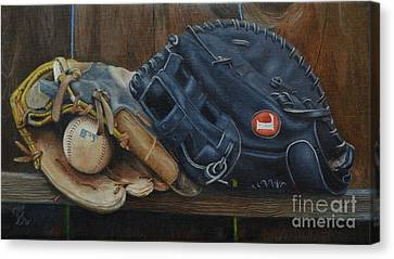 Let's Play Catch Canvas Print by Ralph Taeger