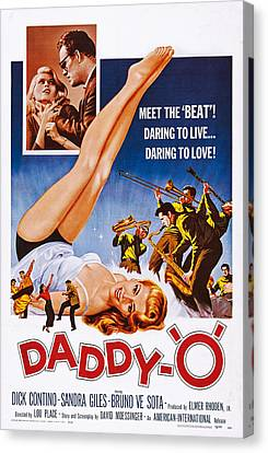 1950s Movies Canvas Print - Daddy-o, Us Poster Art, 1959 by Everett